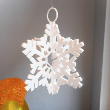 copo de nieve 3D 449x450 - 11 proyectos para imprimir en 3D para decorar tu casa en Navidad