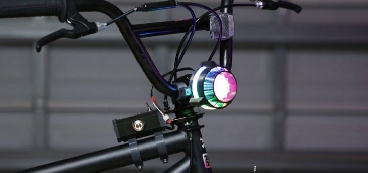 faro bicileta impresion 3d - Construye un faro para tu bicicleta que cambie de colores mediante un botón