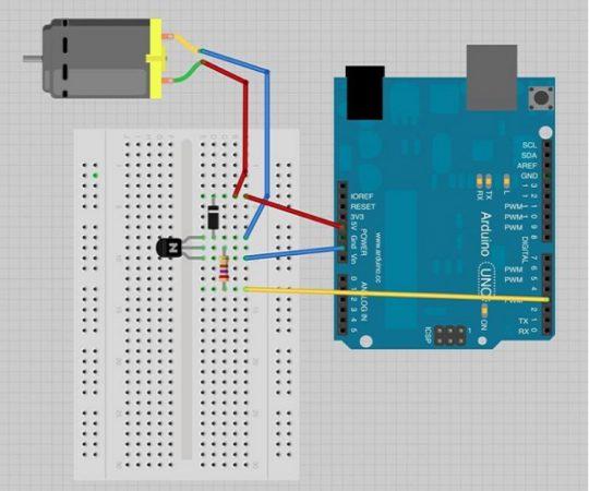 arduino DC motor esquema 540x450 - Arduino DC Motor, aprende a controlarlo con L298