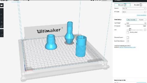 Cura de ultimaker para impresión 3D