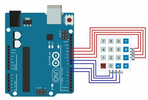 conexiones teclado con Arduino Uno - Teclado 4x4 cómo Interfaz de entrada con Arduino Uno
