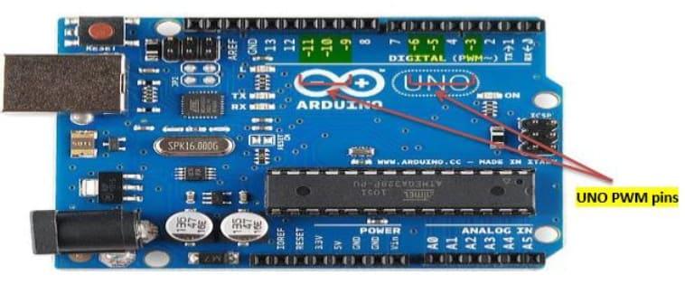 arduino uno pwm pins - PWM Arduino, Pulse Width Modulation