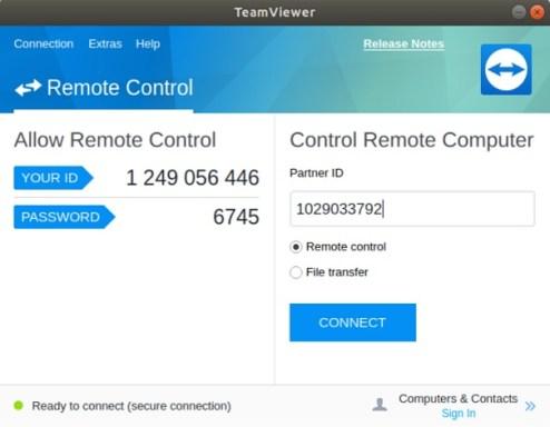escritorio remoto raspberry pi teamviewer linux