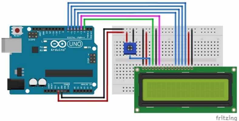 cableado pantalla LCD arduino uno - Cómo usar un LCD de 16×2 caracteres con Arduino