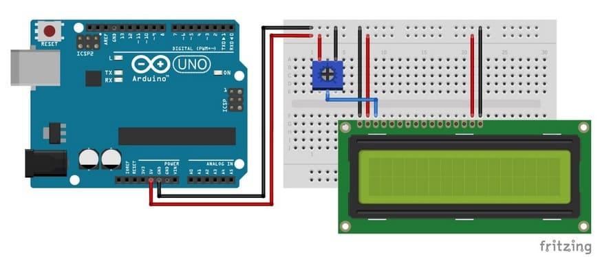 pantalla lcd conectada a Arduino - Electrogeek