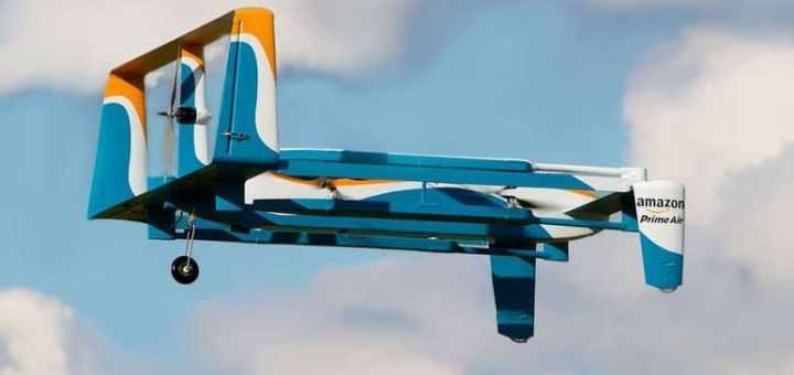 drone de reparto de amazon