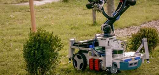 robot que cuida jardín