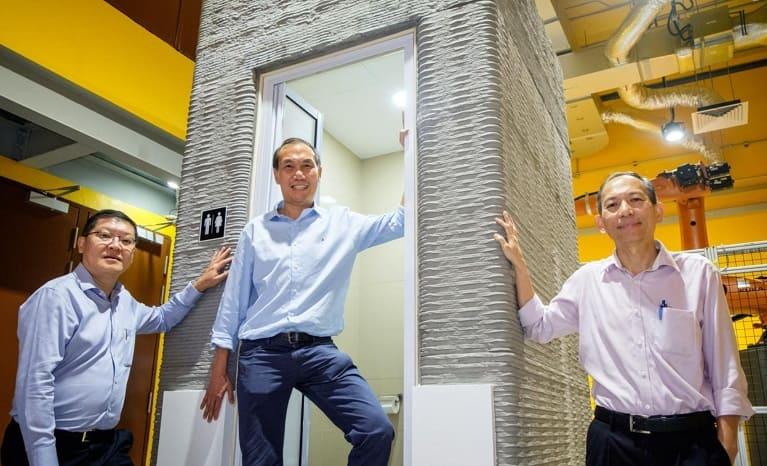 imprimen en 3D un baño en un día construccion