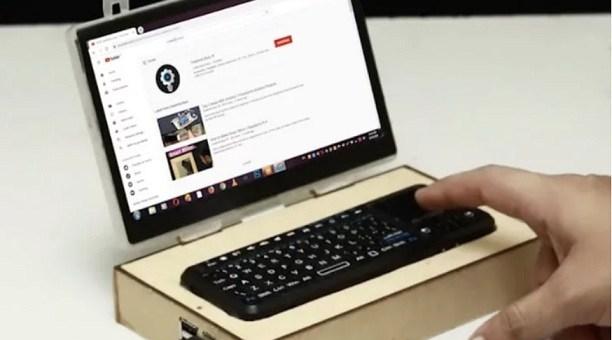 mini laptop con Raspberry Pi