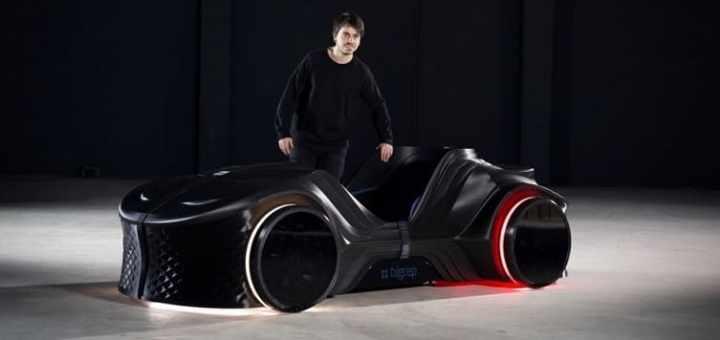 loci coche autonomo impreso en 3d