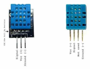 pinout DHT11 - Cómo construir una Estación meteorológica con ESP8266 usando el IDE de Arduino