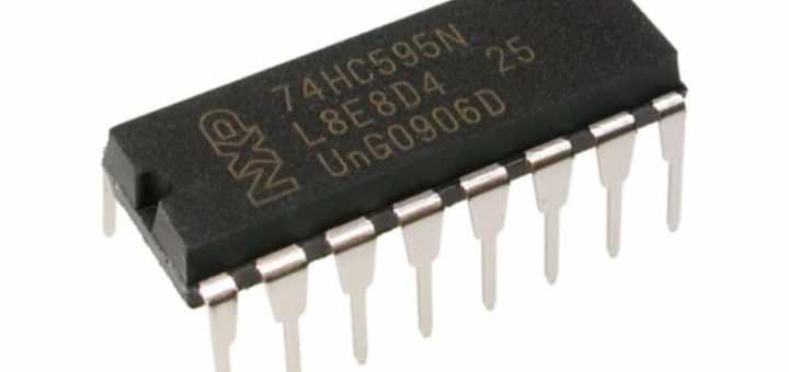 74HC595 - Cómo funciona el registro de turnos 74HC595 y su interfaz con Arduino