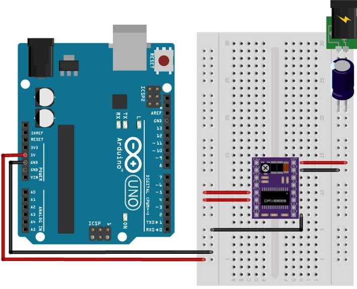 DRV8825 conexión con Arduino - Cómo controlar un motor de pasos con el conductor DRV8825 y Arduino