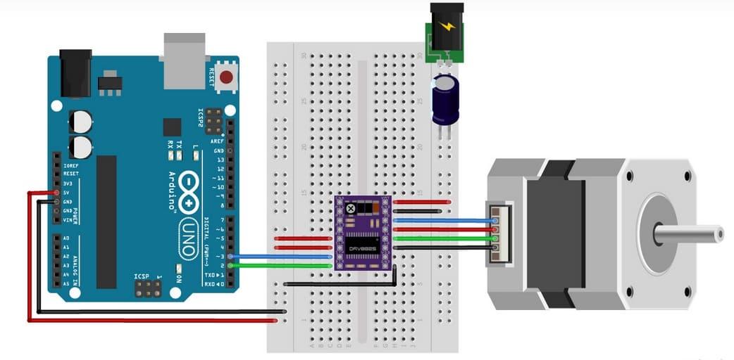 DRV8825 stepper motor - Cómo controlar un motor de pasos con el conductor DRV8825 y Arduino