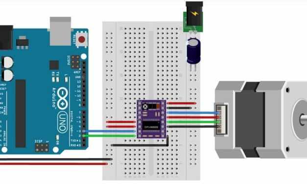 Cómo controlar un motor de pasos con el conductor DRV8825 y Arduino
