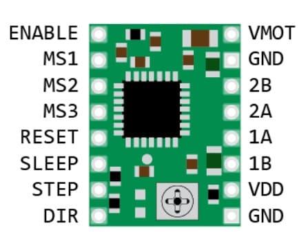 A4988 pinout - Cómo controlar un motor paso a paso con el A4988 y Arduino
