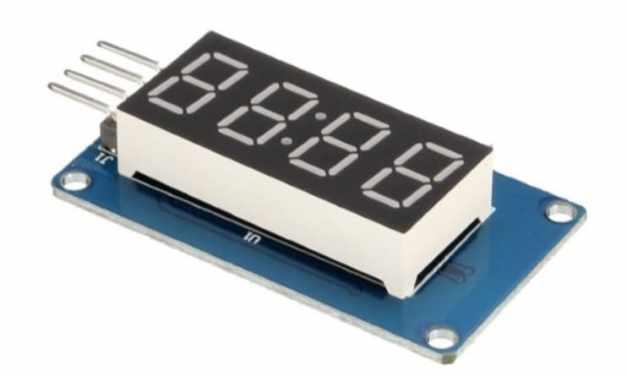 TM1637 Pantalla LED de 7 segmentos de 4 dígitos