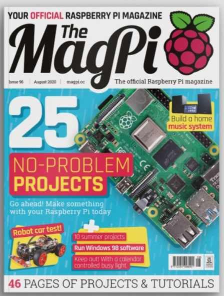"""magpi numero 96 - El número 96 de la revista MagPi ya está disponible con 25 proyectos """"no problem"""" para mantenerte ocupado."""