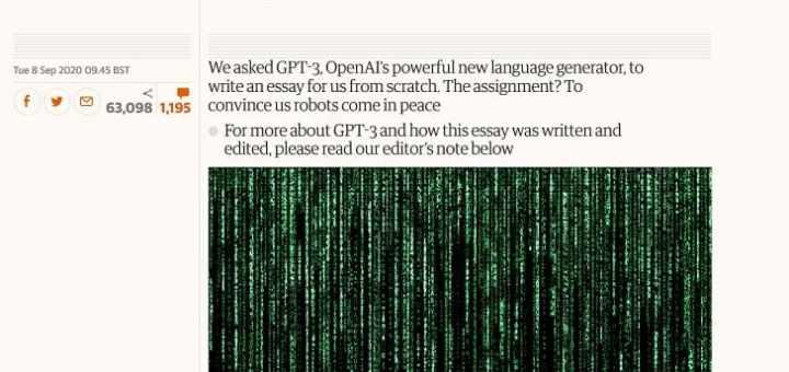 Un periódico británico publica un artículo de opinión escrito por un robot