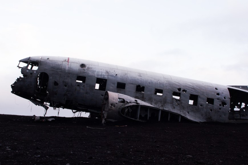 Avión estrellado dc3 wrecked plane en el sur de Islandia