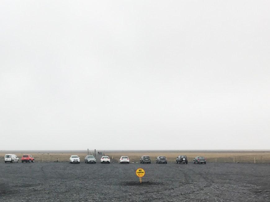 Parking avión estrellado Islandia