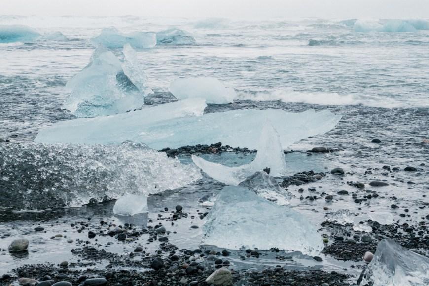 Diamond beach en el sur de Islandia