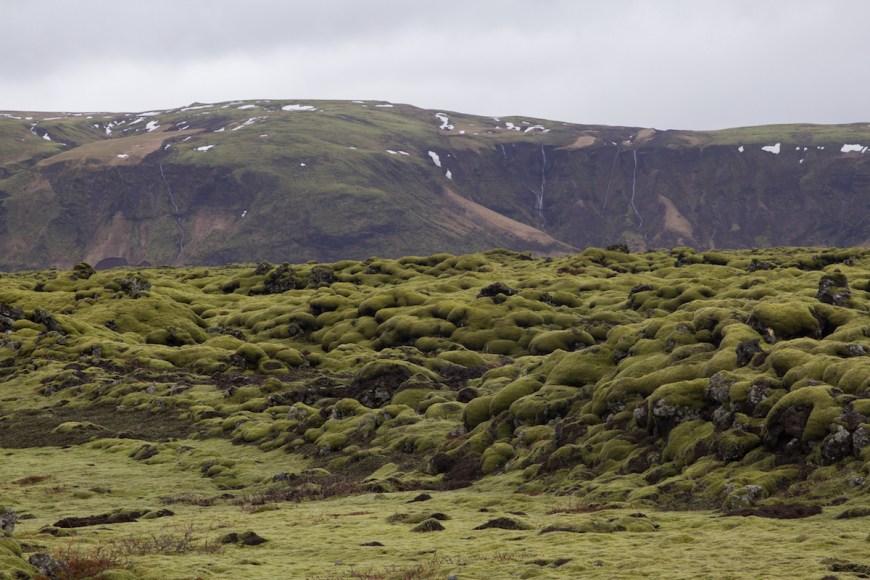 Desierto de lava Eldharaun en el sur de Islandia