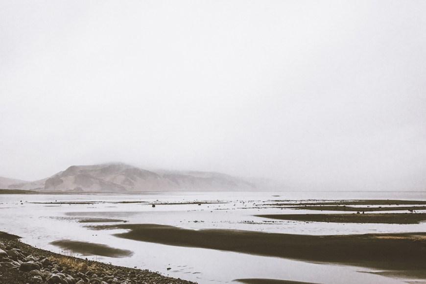 Zona inundada en el sur de Islandia