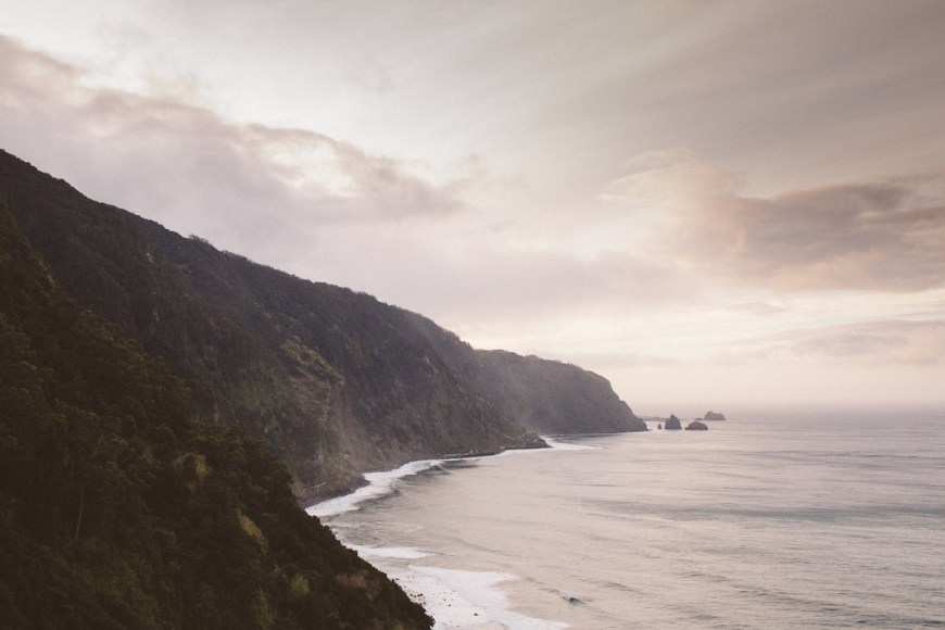 Atardecer en el norte de Madeira