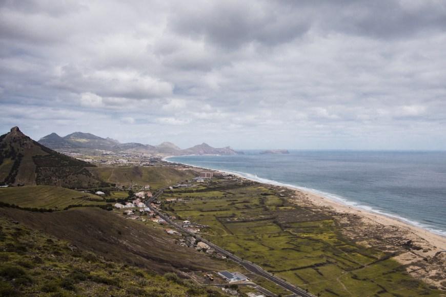 Vista de Porto Santo des del Mirador de las Flores