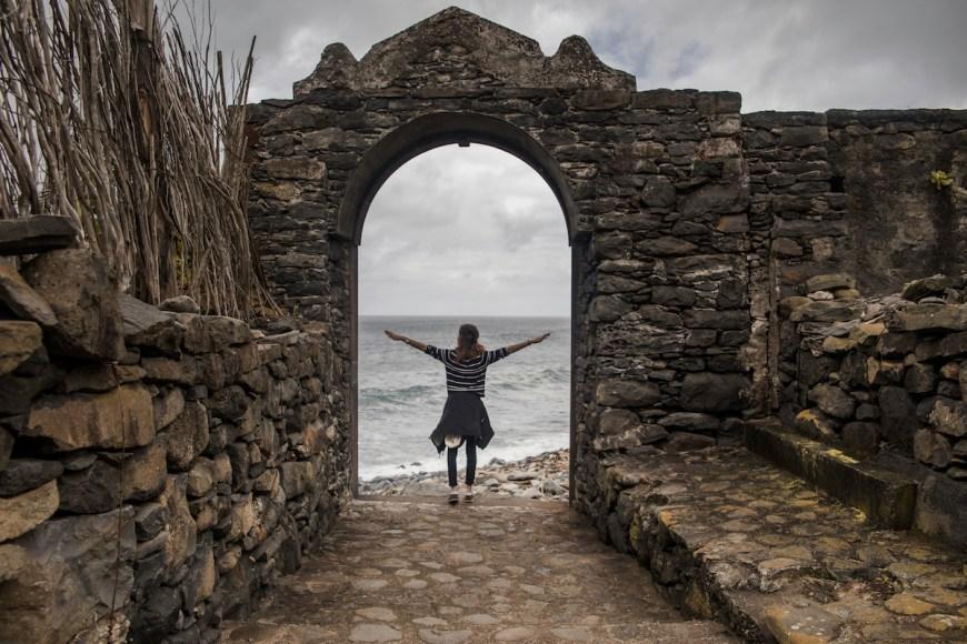 Ruinas de Sao Jorge en el Noreste de Madeira.
