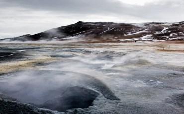 Fumarolas de Hverir en el norte de Islandia