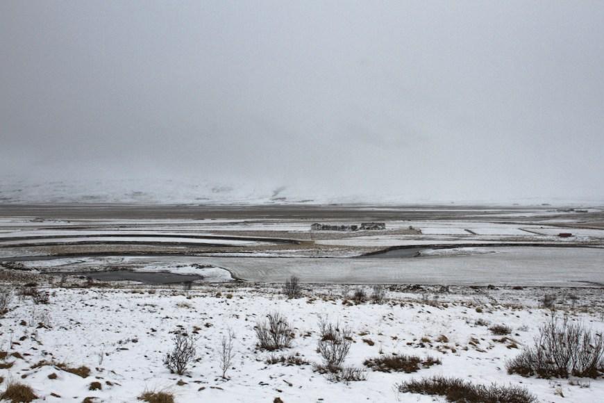 Valle en Varmahlid en el norte de Islandia