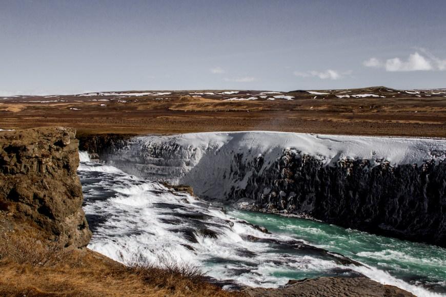 Cascada Gullfoss Islandia, circulo dorado