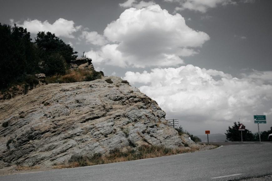 Curva de Coll de Bracons, La Garrotxa
