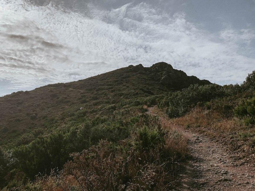 Último tramo de subida al Cap Norfeu, Costa Brava