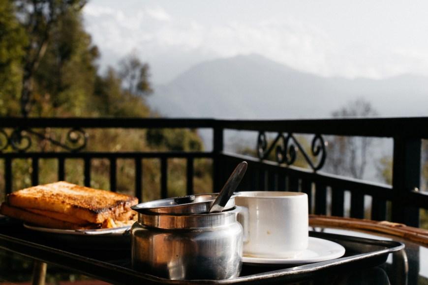 Desayuno en el Sarangkot, Nepal