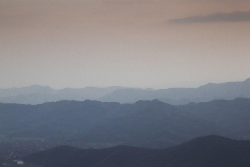 Atardecer des del Sarangkot, Nepal.