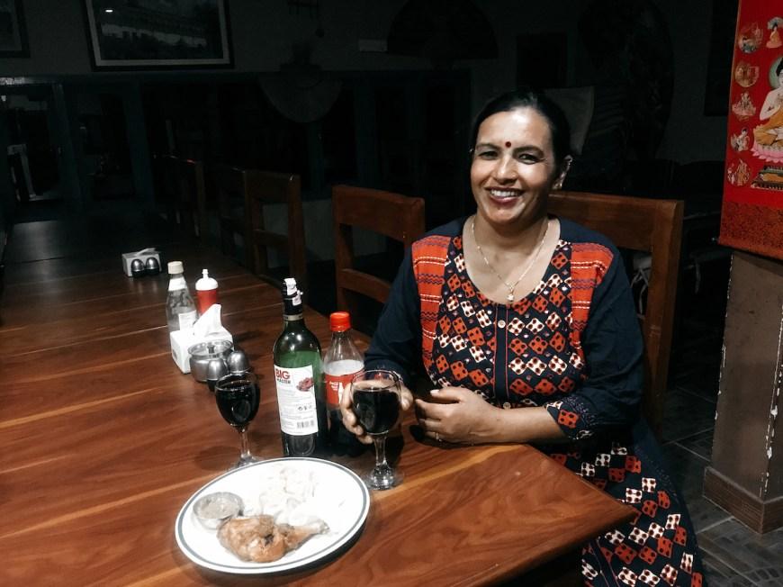Mujer nepalí en la celebración del fin de año, Nepal