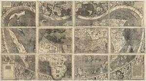 Mapa de Waldseemüller de 1507, donde aparece por primera vez América.