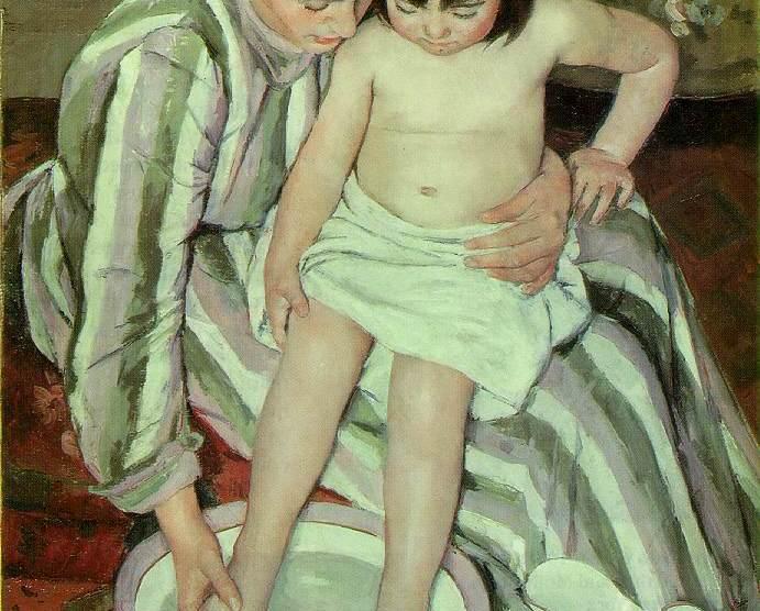 El baño, pintura de Mary Cassatt