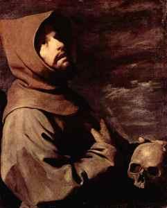 Francisco de Asís, por Zurbarán
