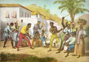Imagen de 1825 sobre un ritual de Capoeira