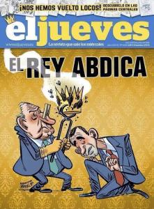 Polémica portada de El Jueves sobra la abdicación de Juan Carlos I