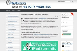 Captura de la página 'Best of History Websites'