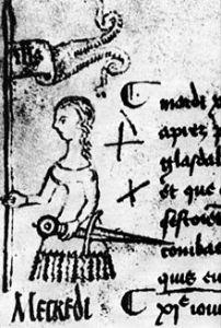 Uno de los pocos dibujos de Juana de Arco cuando estaba con vida .Es un dibujo de 1429, 2 años antes de ser quemada.