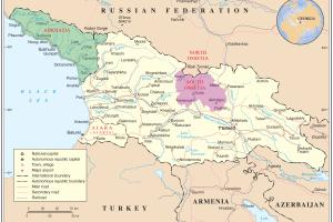 Mapa político de la región.