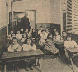 Alumnos de educación primaria de la Institución Libre de Enseñanza (1903)