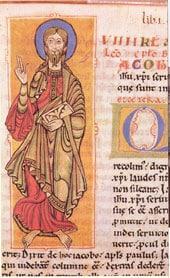 El apóstol Santiago en el Códice Calixtino (Wikimedia).