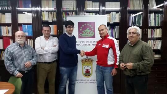 Reunión entre el presidente de ADLH, Álvaro López Franco, y los consejeros del IECG.